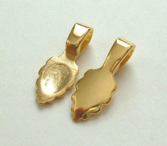 CRAFT ROOM CLEARANCE - 25 Aanraku 18k Gold Plated Bails - Standard Small