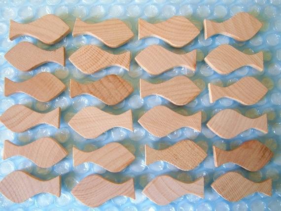 Little Wooden Fish - Six Pieces