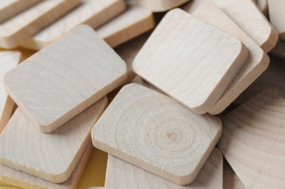 Small Flat Wooden Rectangles - Set of 8 - Great for PENDANTS and MAGNETS
