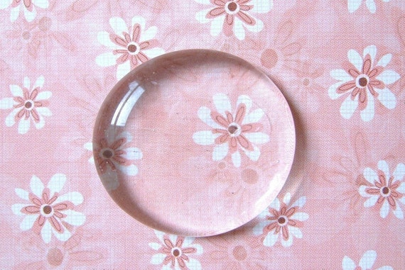 Round Clear Glass Gems - Set of 20 - 1.25''