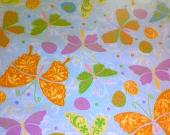 New ORANGE BUTTERFLY flannel pajama/Lounge pants.  Available in sizes  0-3 to 3X.