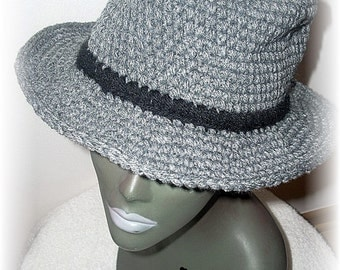 Fedora Crochet Grey Bogart
