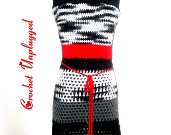 Crochet Apron Top - Zebra Pop - Ready-to-Ship