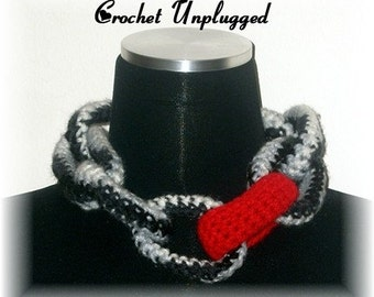 Crochet Link Chain - Zebra with Pop link chain - Ready-to-ship