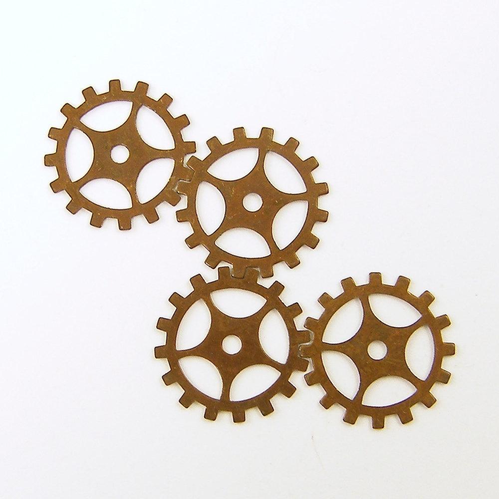 Steampunk Gears Brass Gears Gears Jewelry Component
