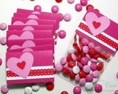 Party Favor Bags - Hot Pink Favor Bags and Toppers (Set of 12 ) - Birthday Party Favors, Sweet Sixteen
