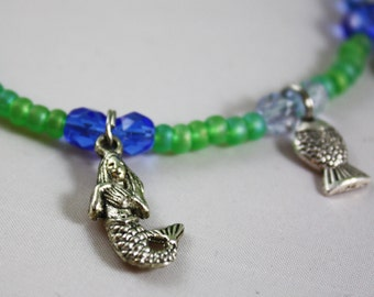 Mermaid and Fish Charm Anklet