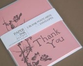 Shell Pink Thank Yous (set of 5 postcards)