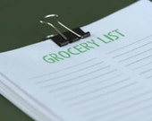 RESERVED LISTING FOR WENBABE - Suitcase Clip Notes - Grocery List