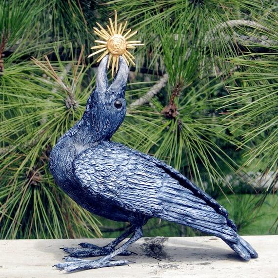 Raven and Sun Original Sculpture