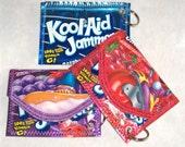 Koolaid Kool-Aid Juice Pouch Keychain Key Chain Change Purse Business Card Holder CUSTOM MADE Free Shipping