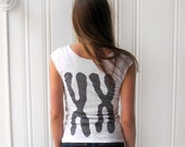 XX Chromosomes Womens T-shirt -  White in Small  / geeky gift  for her - Xenotees