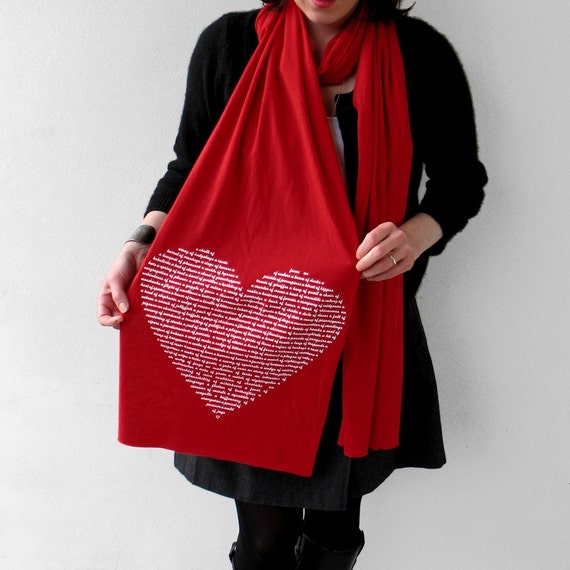 Animal Lover Scarf in Red