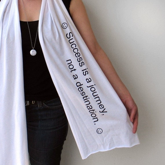 Giant Fortune Scarf ... ( Success is a Journey )