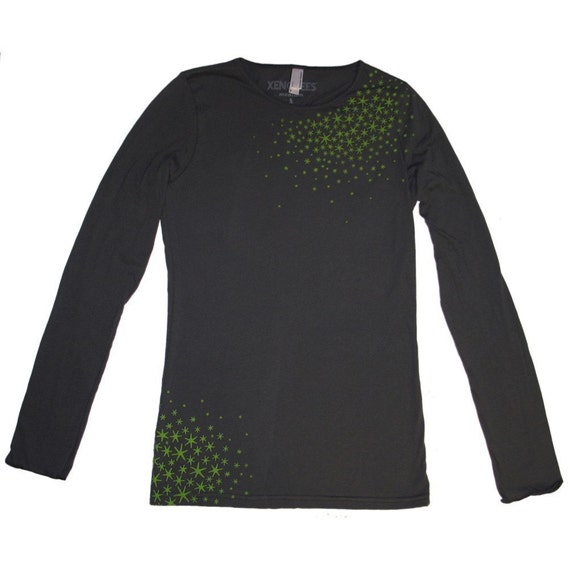 Japanese Star Moss - Long sleeved shirt in Asphalt Small to Large