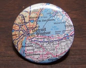 Detroit and Windsor map pin