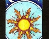 Sun and Stars / greeting card