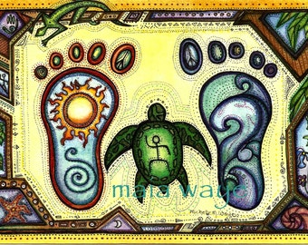 In Step with Honu 8x10