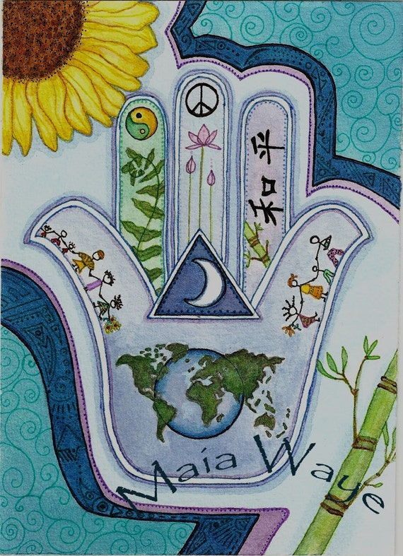 Hamsa for Peace Earth and Peoples