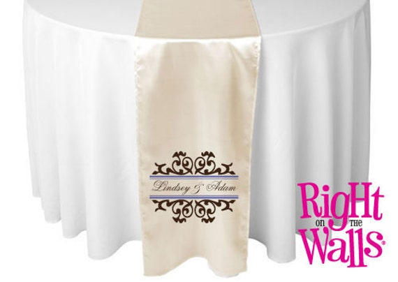 Items Similar To Personalized Wedding Table Runner