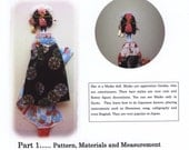 eBook How to make a Japanese paper doll..... Flat Maiko doll