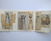 the kindest folk - original mixed media collage - folding artist book
