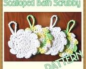 Scalloped Bath Scrubby PATTERN - crochet pdf