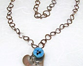 My Heart Is Tied To You Lampwork Necklace