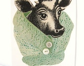 The Cow Cowl. Original collage