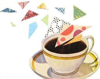 Cuppa Collage. Limited Edition giclee print