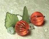 Orange Halloween Neon Pumpkin Earrings, Thanksgiving, Fall Fashion, Autumn