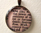 "S.A.L.E. - Resin Picture Pendant: Dictionary ""FATE"""
