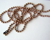 24 Inch (61 cm) Ball Chain Necklace Bright Silver, Antique Copper and Antique Brass
