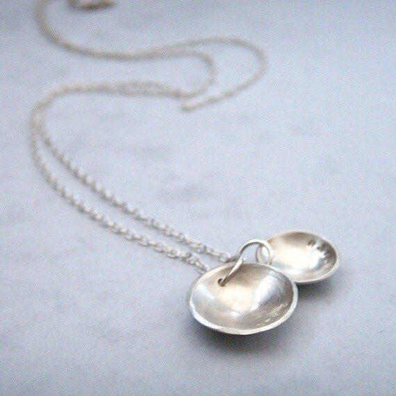 Love and Truth Silver Dome Necklace