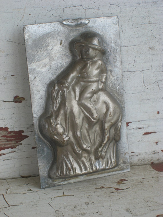 Vintage Candy Mold Cowboy on a Horse 1950s  (3548-W)
