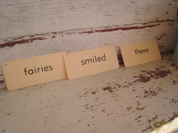 Vintage Flash Cards Dick & Jane Fairies Smiled There (3795-W )