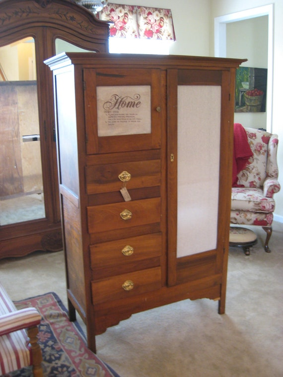Antique Armoire Wardrobe Chifferobe 0033 Ed By Swoonantiques