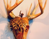 Reverence For Prey Mask wood carving by Jason Tennant. Nature art, wildlife art