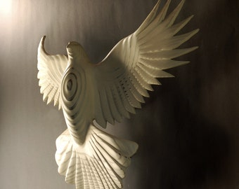 Peace Dove wood sculpture by Jason Tennant, inspirational , wedding gift,  get well gift, Christmas, Hanukkah