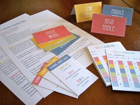 INSTANT DOWNLOAD - Bunco Party Kit - Printable Set