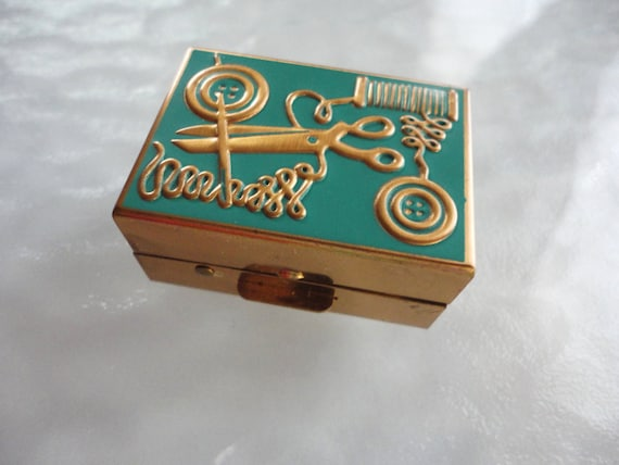 Vintage Sewing Kit Trinket Box