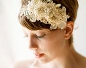 ivory bridal hair fascinator 'the harpist'
