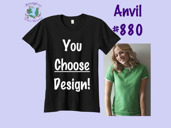 Women's T-Shirt - S M L XL - YOUR CHOICE Screen Printed Design - Size - Color - Ink Color - 880