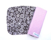 Seat Belt Strap Covers - Black, White and Pink Gingham READY MADE