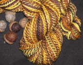 HONEY BEAR, Handspun Yarn, Merino Wool, 145 yards, Sport to DK Weight