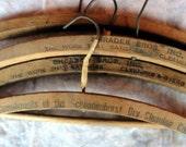 Vintage Wooden Coat Hangers Advertising