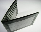 Duct Tape Wallet Bifold Black and Grey