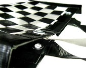 Woven Duct Tape Handbag - Half Tote - Black & White