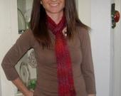 Autumn Hand Knit Scarf