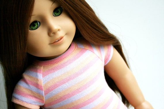 Fits like American Girl Doll Clothes - Fitted Tee in Sorbet Stripe